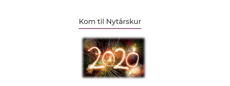 Odsherred afholder nytårskur for alle medlemmer og deres ansatte d. 6. januar 2020