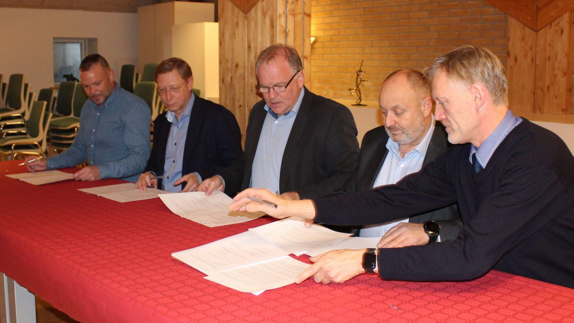 Partnerskabsaftalen i Odsherred bliver underskrevet
